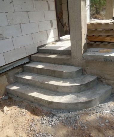 Раствор цементный на крыльцо какой фундамент нужен для дома из керамзитобетона
