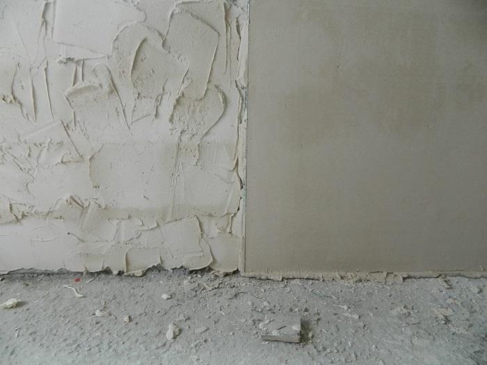 Штукатурим цементным раствором толстый слой как сделать стяжку на полу по керамзитобетону